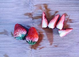 冬日里红红的草莓图片