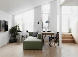 清新优雅的北欧风Loft,简而优雅的家