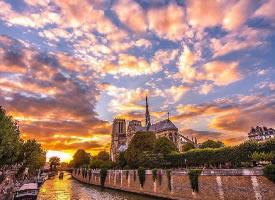 巴黎的火烧云,惊爆世人的眼球