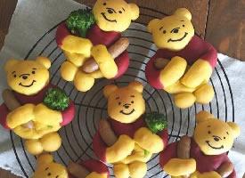 一组可爱的小熊饼干图片