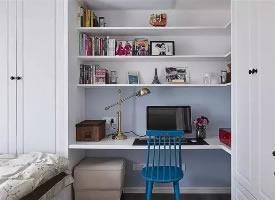 转角空间的书房设计,小户型的首选参考