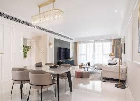 三居室现代轻美式,温馨优雅的质感