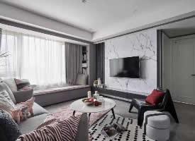 126平的三居室,独特的后现代风,充满了轻奢