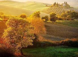 意大利托斯卡纳的深秋时节