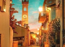 意大利小镇,夜色阑珊惹人醉