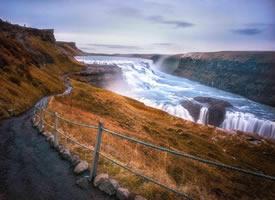 冰岛黄金瀑布图片欣赏