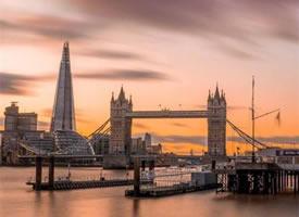 伦敦夕阳,太美太温柔