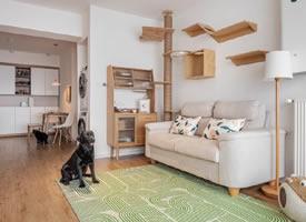 65平米日式两居室装修效果图