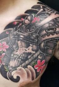 男性传统的几款半甲纹身作品