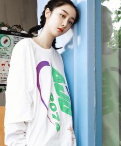 赵小棠最新男友风时尚写真图片