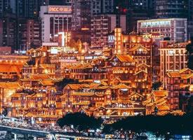 魔幻的重庆夜景图片