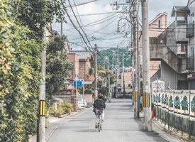 日本京都的夏日街头