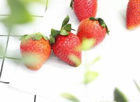 水中美美的草莓图片欣赏