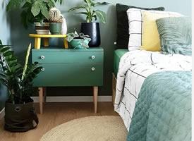 高级墨绿色系的家居,令人舒适平静的静谧之美