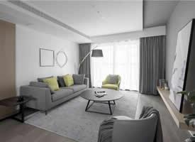 142平简约北欧三居室,朦胧的灰色带来轻松质感