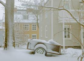 下了雪的雷克雅未克,像是故事里的童话世界