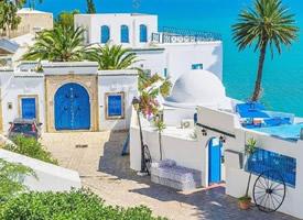 斑斓流泻的天堂花园——突尼斯西迪布赛小镇