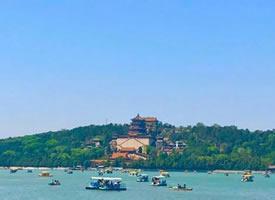 盛夏的颐和园,就是一幅绝美山水画