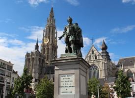 有情调的比利时安特卫普城市风景图片