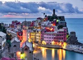 入夜的意大利五渔村,好美