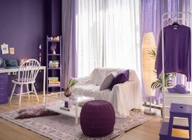 一个紫色控的单人家居装饰