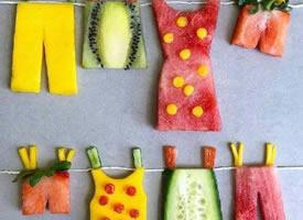 一组水果的创意玩法图片