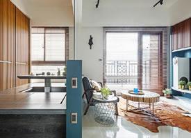 """89平方米的二居室公寓,格柵""""作为重点的装饰元素"""