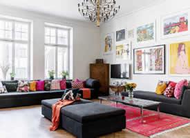 181m²波西米亚风格家居,明亮跳跃的色彩点缀