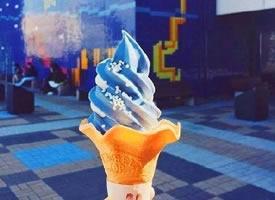 日本水族馆推出的鲨鱼冰淇淋,海洋的味道