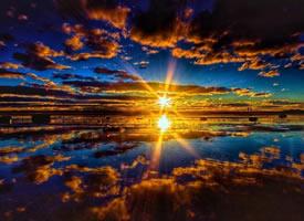 夕阳与人,来自惠灵顿的日落