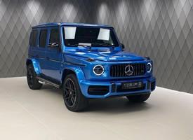 酷酷的蓝色新奔驰大G图片