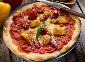 精致美味的披萨图片