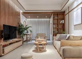 130㎡自然风三居室,禅意日式的家