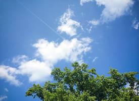 唯美蓝天白云风景图片