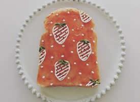 一组可爱吐司面包图片