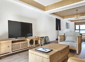 130平原木日式风三居室,闹市中的诗意栖居 