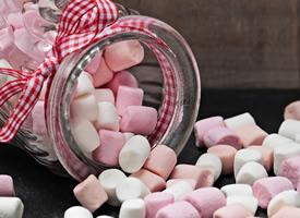香甜的棉花糖图片
