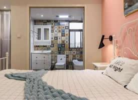 107㎡北欧风三居室,粉色的卧室,看着好浪漫