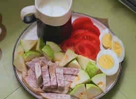 一组健康早餐图片