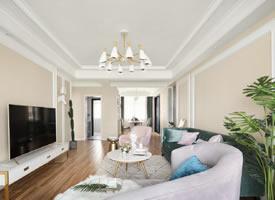 129平简约美式风三居室,恬静、舒适