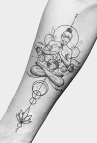 一组几何刺青纹身图案欣赏