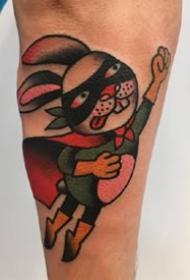 一组欧美彩色手臂纹身图案