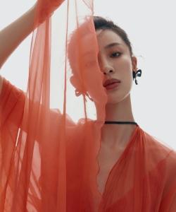 孙佳雨薄纱裙性感写真图片
