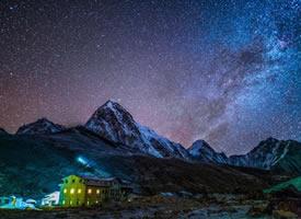 喜马拉雅的星空,拍摄于西藏和尼泊尔