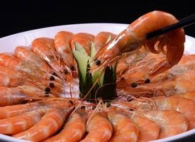 粤菜美食白灼虾图片