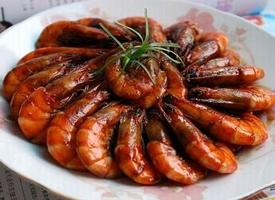 一组红烧大虾美食图片