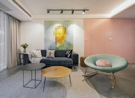 粉色现代北欧风格住宅