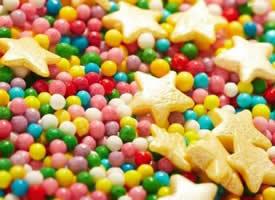香甜好吃的彩色糖果图片
