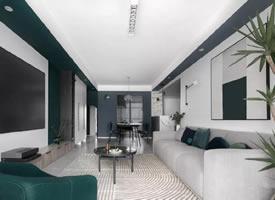 实用面积85㎡三居室,喜欢这样的颜色