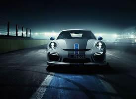 夺目耀眼的白色保时捷911汽车图片